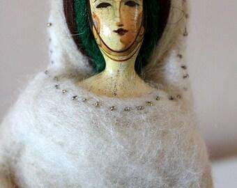 OOAK Art doll. Shaman. Handmade. Doll Art. Whimsical original sculpture. Whimsical original drawing.