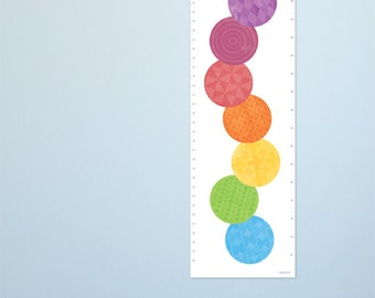 Modern Growth Chart. Fun caterpillar design for a bright and stylish nursery. Colorful and fun contemporary height charts by Erupt Prints