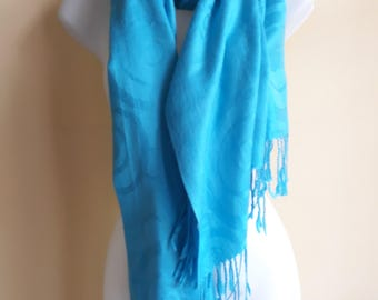 Cashmere and silk pashmina scarf or wrap