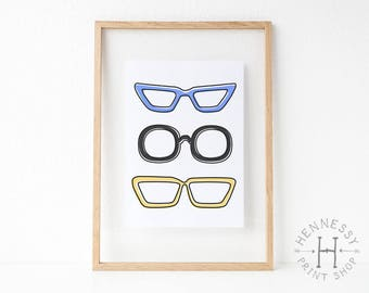 Eyeglasses Printable Art Print / Instant Download / Digital Print / Home Decor / Prints/ Illustration