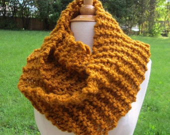 Plush Infinity Scarf Cowl in Butternut Squash