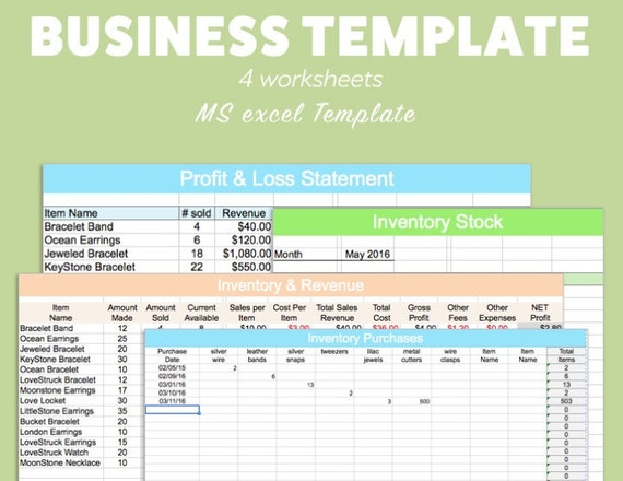 excel template profit and loss
