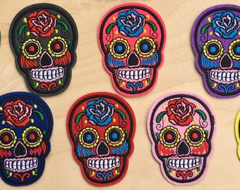 Color Skull Patches (Calavera) embroidered patch