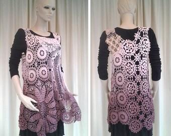 Zea Mays Boho Hippy Crochet Tunic