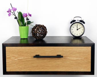 Floating Nightstand / Nightstand With Drawer / Nightstand Modern / Modern  Bedside Table / Night Stand