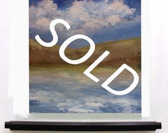SOLD-------------Ocean, Landscape Painting, Peaceful, Travel, Original Painting, Winjimir, Home Decor, Office art, Wall Art, Gift, Art