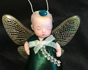 Porcelain FAiry Baby Christmas Ornament