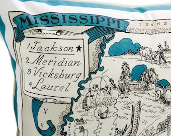 Mississippi State Pillow Cover with Insert