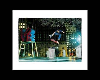 Brian Wenning Sw Heel at Love Park, 1999