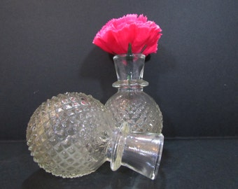Vintage vases/ Vintage pair of glass vases /Old vases/Table decor/ Flower vase/ Glass vases