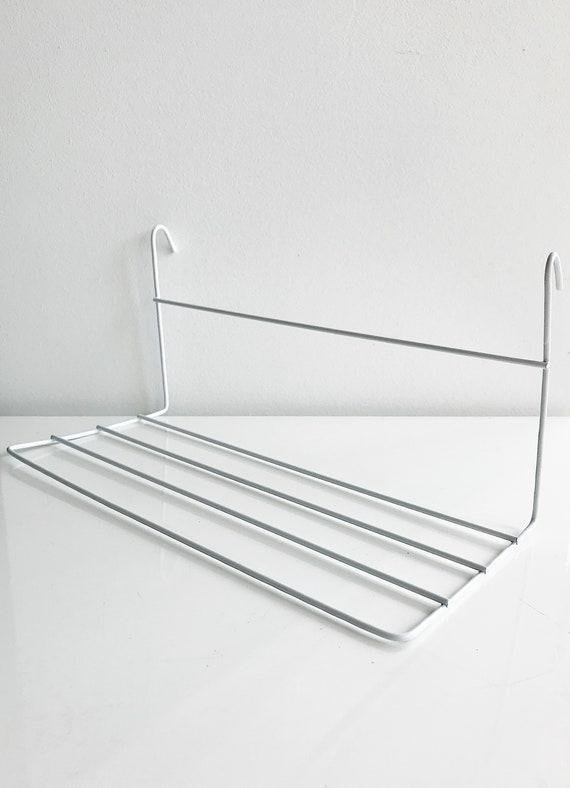 White Shelf for Wire Wall Grid Small Straight Shelf Rack for