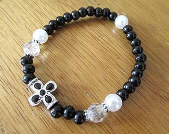 Rosary bracelet prayer beads 2 decade black sandalwood crucifix bracelet confirmation bracelet Catholic religious spiritual gift.