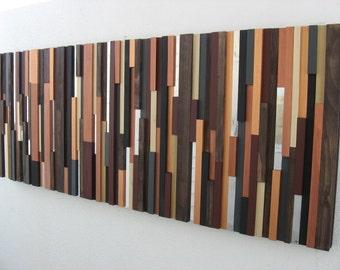 Wood Wall Art, Wall Sculpture, Modern Rustic Art, Brown Art, Home Decor, Wall Decor, Wall Art, Wood Art, Abstract Art, Textured Art, Wooden