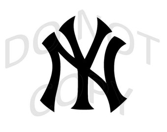 Reusable Stencil - New York Yankees Baseball Team Logo - Many Sizes to Choose from!