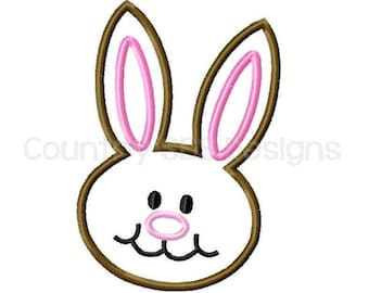 Easter Bunny Applique Embroidery Design -INSTANT DOWNLOAD-