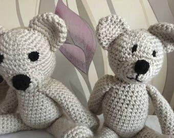 Handmade Teddy Bear, stuffed bear, crochet bear, handmade toy, stuffed toy, handmade cuddly, handmade cuddly toy