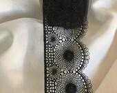 Black Fine Delicate Embro...