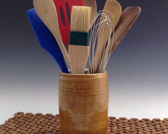 Ceramic Utensil Holder Wine Chiller Wine Crock Kitchen Utensil Holder  Kitchen Tool Holder Pottery Utensil Crock