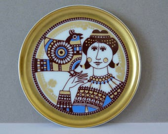 Vintage Mini Plate From Maastricht Mosa of Holland