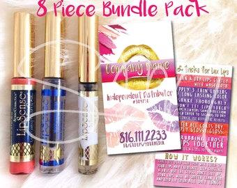 Lipsense Business Card - LipSense Bundle Pack - Gold Lip Multi Gloss - LipSense Marketing KIT - Lipsense Lipstick Gloss Pack -You Print