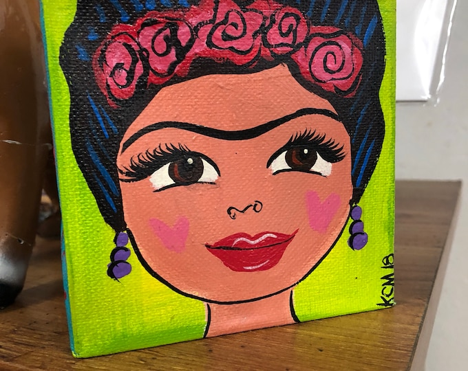 La Mujer Canvas Painting LIME