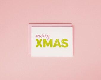 Merry X-Mas / Letterpress Card