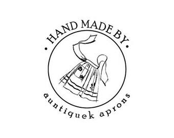 retro apron custom rubber stamp