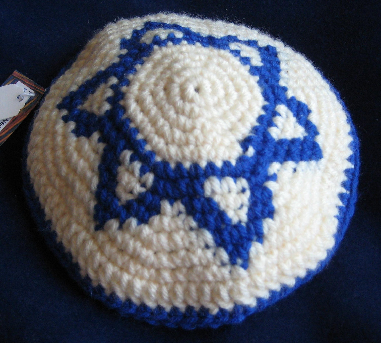 Star of David Yarmulke Crochet Pattern PDF File Digital