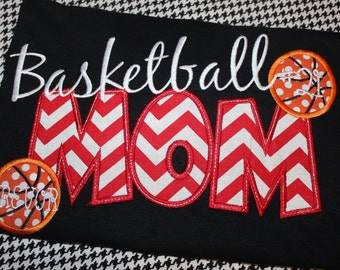 Basketball Mom shirt- you pick fabric and colors for your school- any school name