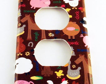 Outlet Plate Light Switch Cover  Wall Decor Switchplate   in  Barnyard (169O)