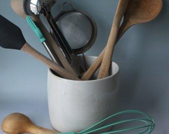 Kitchen Utensil Holder, Kitchen Gear, Ceramic Utensil Holder, Utensil Organizer, Kitchen Accessory