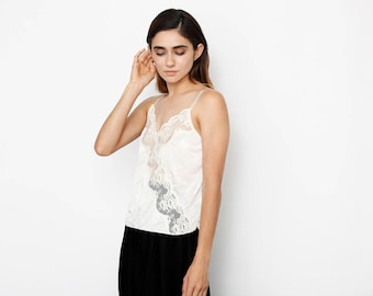 Intimate Thoughts Cream and Lace Blouse