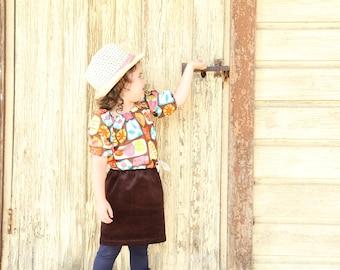 Velvet and cotton tunic dress