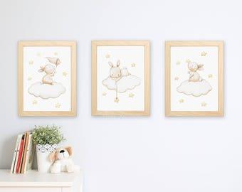 SET of three Nursery Art