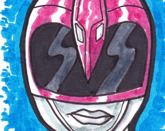 """Power Rangers Pink Ranger ACEO trading card 2 1/2"""" x 3 1/2"""""""