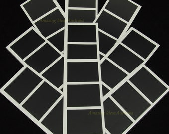 100 x Chalkboard Label (Rectangle Decal - 5cm x 3.5cm) : Blackboard Wedding Gift Tag Stickers Australia