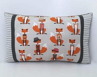 Fox and the Houndstooth NURSERY ACCENT PILLOW