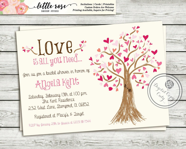Bridal shower invitation wedding shower invite zoom monicamarmolfo Gallery