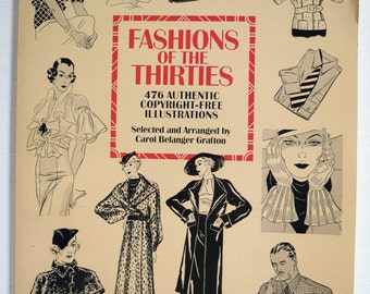 Fashions of the 1930's Dover Book of Illustrations.