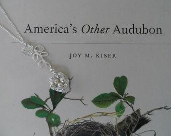 Birds Nest on Branch Necklace