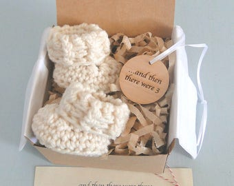 Pregnancy Announcement, December Pregnancy Reveal, Grandparents, BOOTIES IN A BOX®, Baby Booties, Adorable Wood Ornament,  Mother's Day Gift