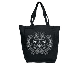 ChiO Chi Omega Crest Tote Sorority Tote Greek Licensed