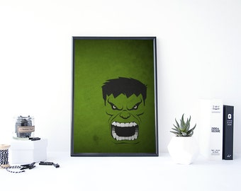 Hulk Poster, Avengers Poster, Marvel Minimalist, Hulk Art, Superhero Minimalist, The Incredible Hulk, Avengers Minimalist, The Hulk
