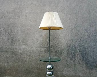 George kovacs etsy vintage mid century modern george kovacs stacked ball chrome floor lamp with glass shelf aloadofball Image collections