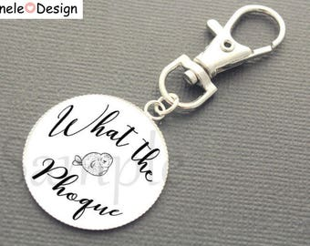 What the seal Keychain - white black idea gift