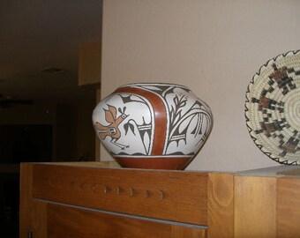 Native American Zia Pot by Ruby Panana