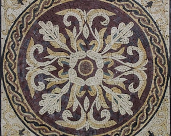 Renaissance Chic Wall Hanging Floor Inlay Marble Mosaic GEO2598