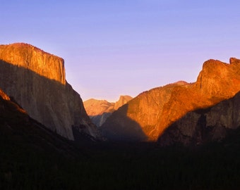 Sunset from Tunnel View by Catherine Roché, Autumn Yosemite Sunset Photography, Sierra Nevada Mountains Landscape Photography, Fine Art