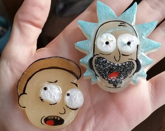 Rick and Morty Resin Pieces