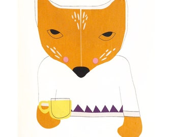 Tea Towel - It's coffee time for FOX sake!